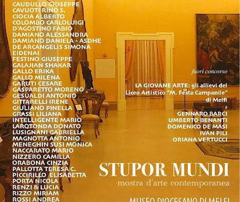 Invito alla mostra d'arte contemporanea Stupor Mundi