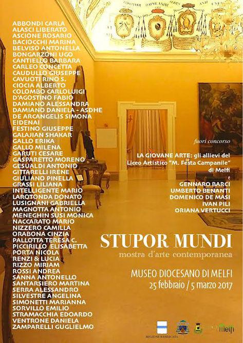 Locandina Mostra d'Arte Stupor Mundi